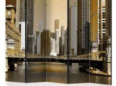 Paraván - Chicago's bridge (vintage effect) II [Room Dividers]